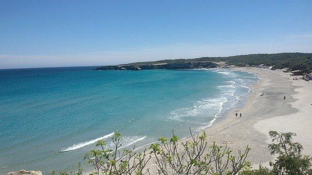 pláž, moře, lidi