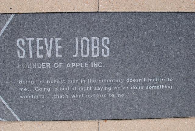 pamětní deska Steva Jobse