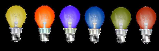 barevné žárovky